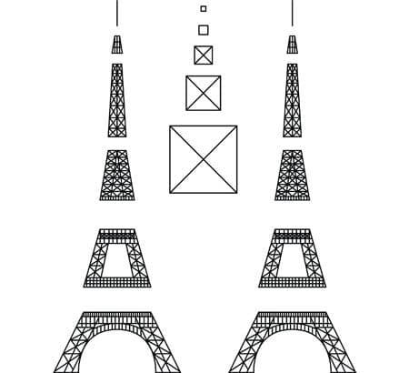 progetto per penna 3d Torre Eiffel